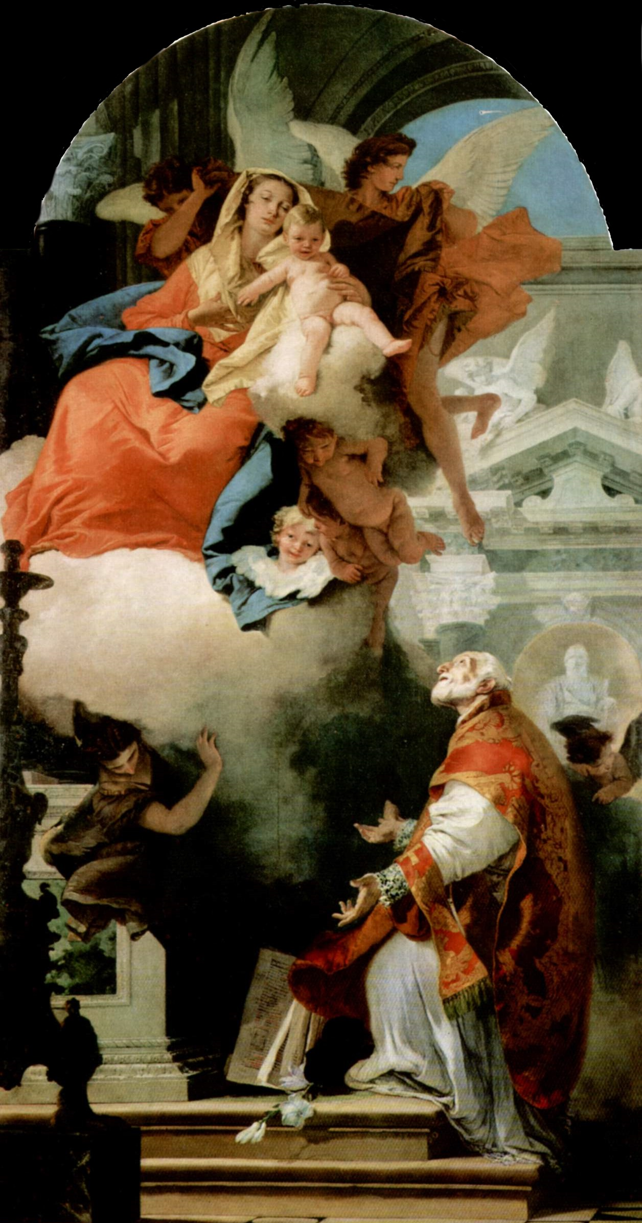 Virgin Appearing to St Philip Neri - Giovanni Battista Tiepolo
