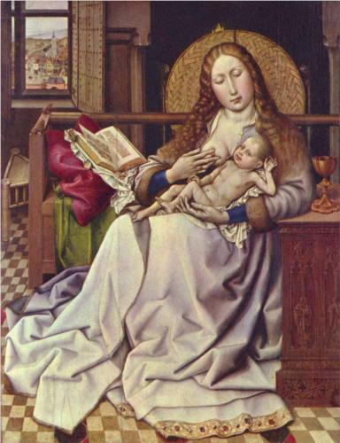 The Virgin and Child Before a Firescreen 1430 - Robert Campin
