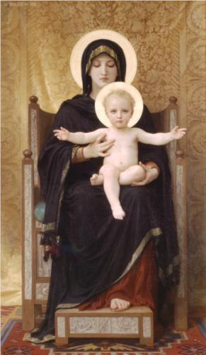 Virgin and Child - William Adolphe Bouguereau