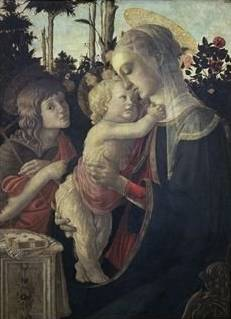 Virgin and Child with John the Baptist - Sandro Botticelli