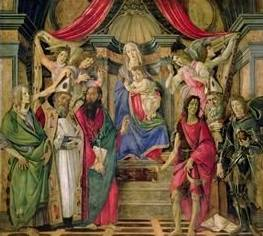 Virgin and Child with Saints - Sandro Botticelli