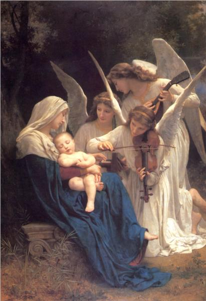 Virgin with the Angels - William Adolphe Bouguereau