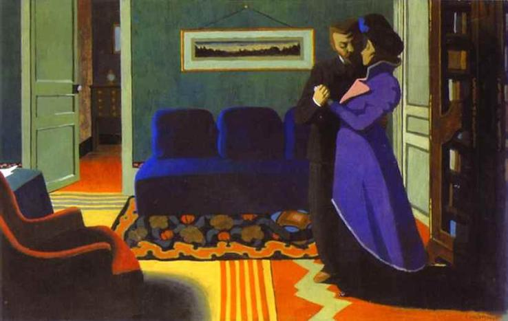 The Visit - Felix Vallotton