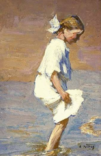 Wading at the Shore - Edward Henry Potthast