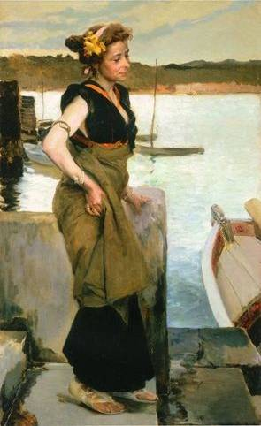 Waiting - Joaquin Sorolla