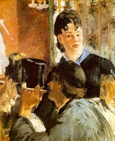 A Waitress Serving Beer - Edouard Manet