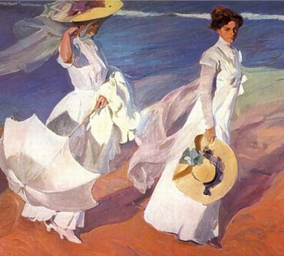 Walk on the Beach - Joaquin Sorolla