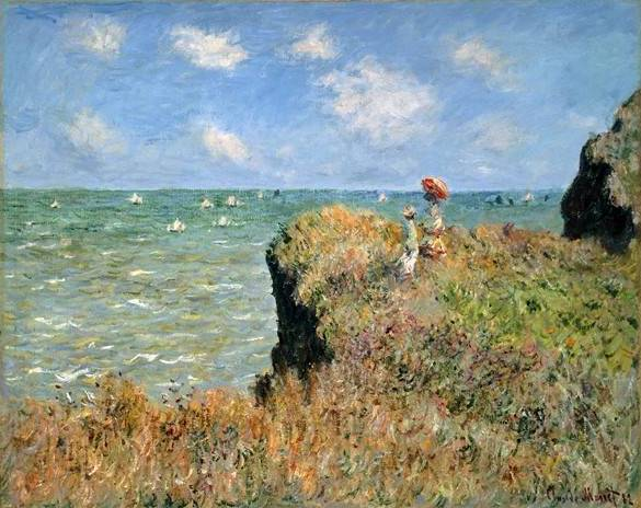 Walk on the Cliff at Pourville - Claude Monet