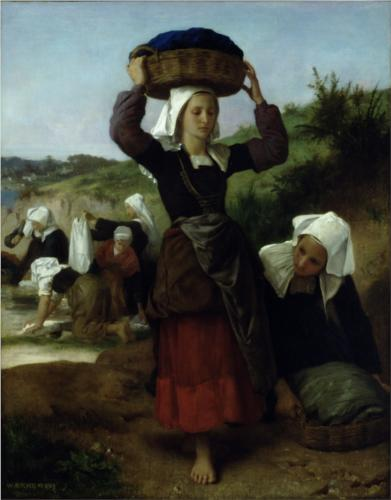 Washerwomen of Fouesnant - William Adolphe Bouguereau