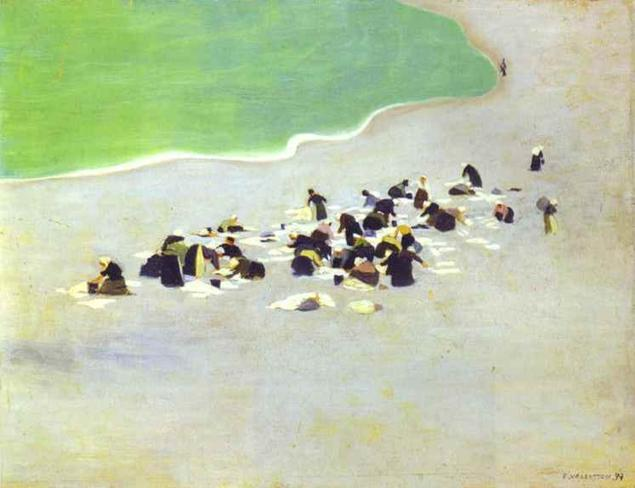 Washerwomen on Etretat - Felix Vallotton
