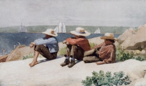 Watching Ships Gloucester - Winslow Homer