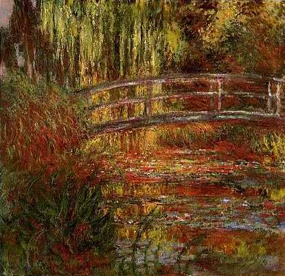 Water Garden and Bridge - Claude Monet