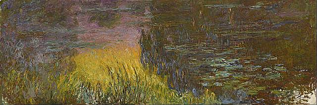 Water Lilies Setting Sun 1926 - Claude Monet