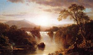 Waterfall 1858- Frederic Edwin Church