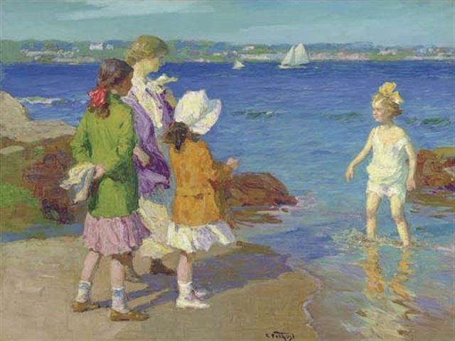 Water's Fine - Edward Henry Potthast