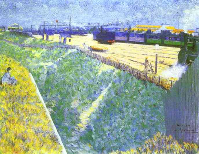 Western Railway Leaving Paris - Charles Angrand