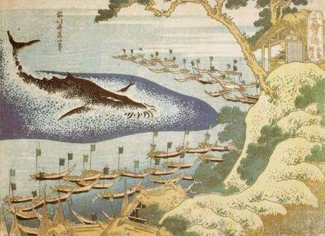 Whaling off the Goto Islands - Katsushika Hokusai