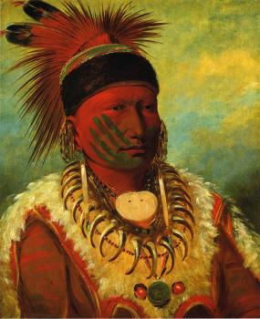 White Cloud, Chief of the Iowas - George Catlin