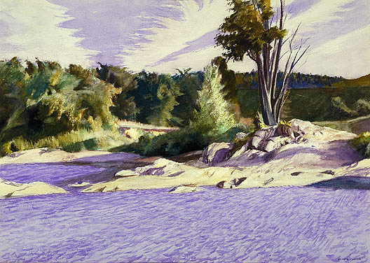 White River at Sharon - Edward Hopper