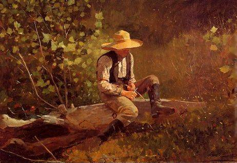 Whittling Boy - Winslow Homer