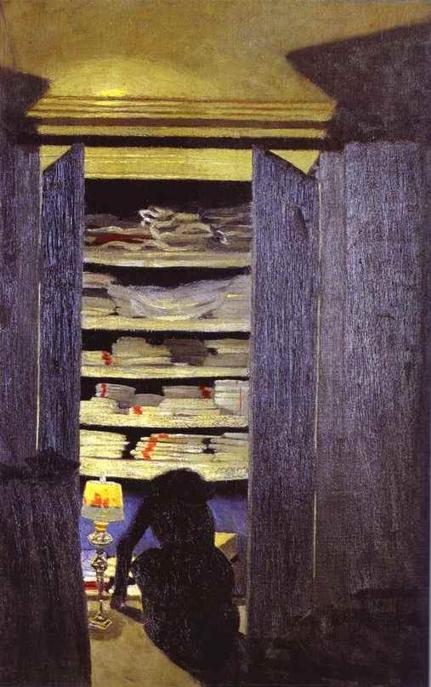 Woman Rummaging Through Closet - Felix Vallotton