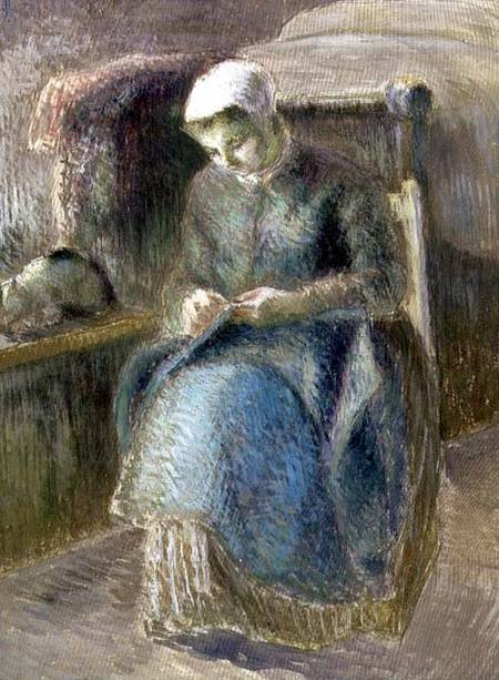 Woman Sewing - Camille Pissarro