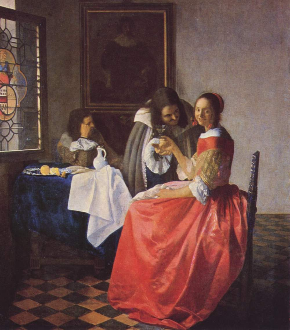 Woman and Two Men - Jan Vermeer van Delft