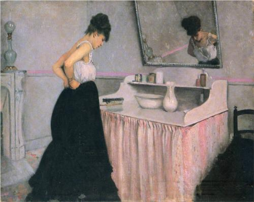 Woman at a Dressing Table - Gustave Caillebotte