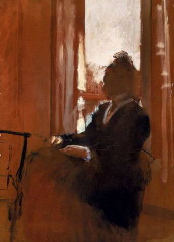 Woman at a Window - Edgar Degas