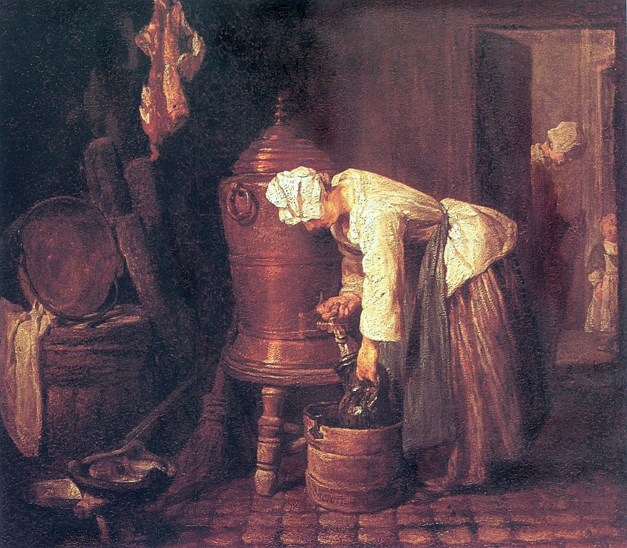 Woman at the Water Cistern - Jean Baptiste Simeon Chardin