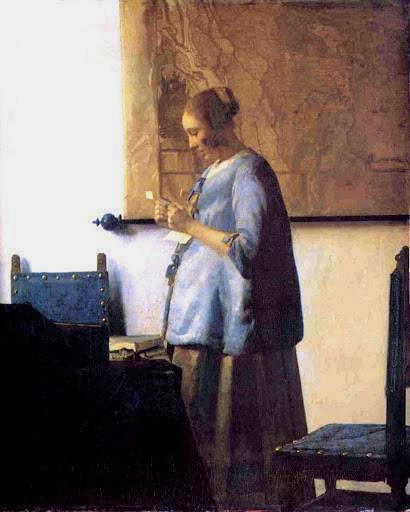 Woman in Blue Reading a Letter - Jan Vermeer van Delft