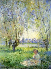 Woman under the Willows - Claude Monet