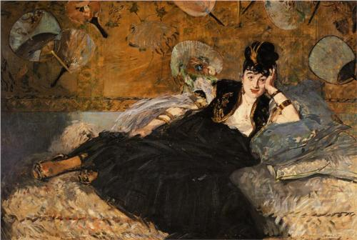 Woman with Fans - Edouard Manet
