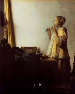 Woman with a Pearl Necklace - Jan Vermeer van Delft