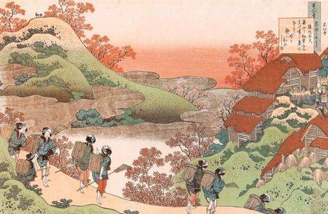 Women Returning Home at Sunset - Katsushika Hokusai