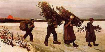 Wood Gatherers in the Snow - Vincent van Gogh