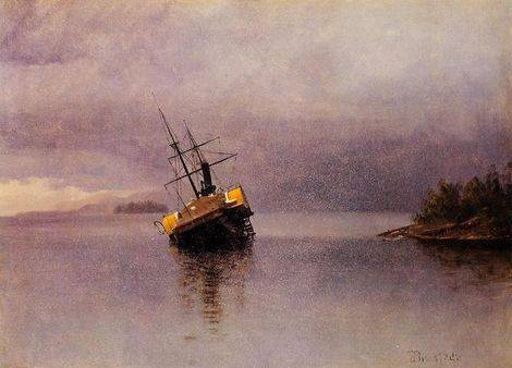 Wreck of the Ancon in Loring Bay Alaska - Albert Bierstadt