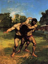 Wrestlers - Gustave Courbet