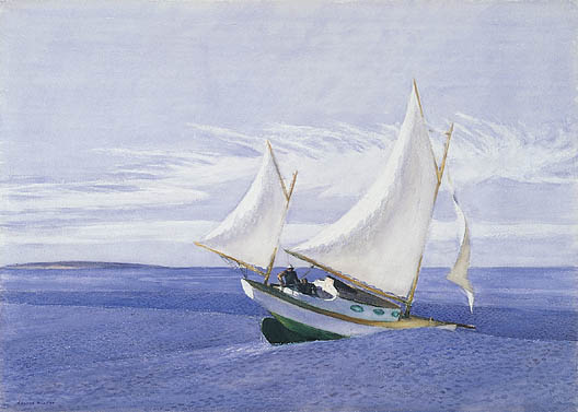 Yawl Riding a Swell - Edward Hopper