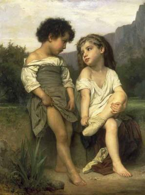 Young Bathers - William Adolphe Bouguereau