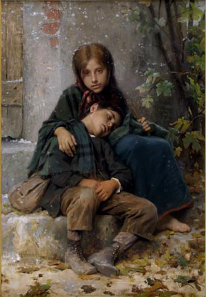 Young Beggars - William Adolphe Bouguereau