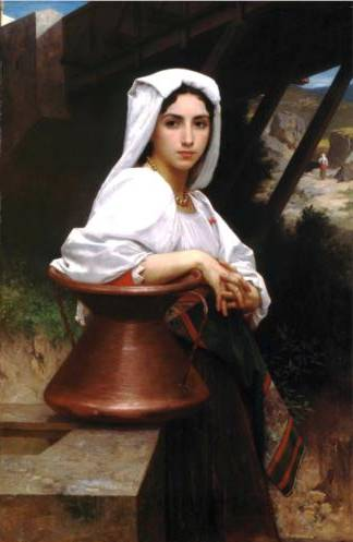 Young Italian Drawing Water - William Adolphe Bouguereau