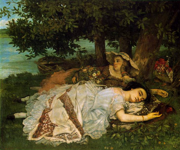 Young Ladies on the Seine - Gustave Courbet