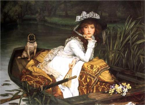 Young Lady in a Boat - James Tissot