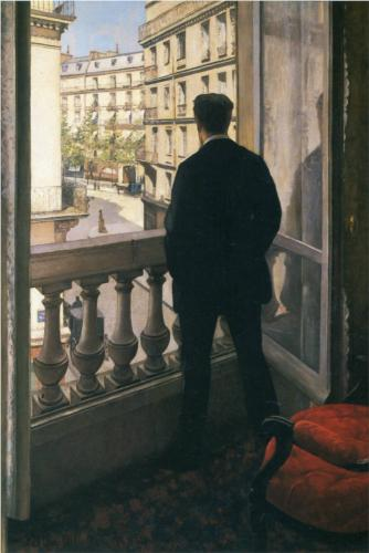 Young Man at His Window - Gustave Caillebotte