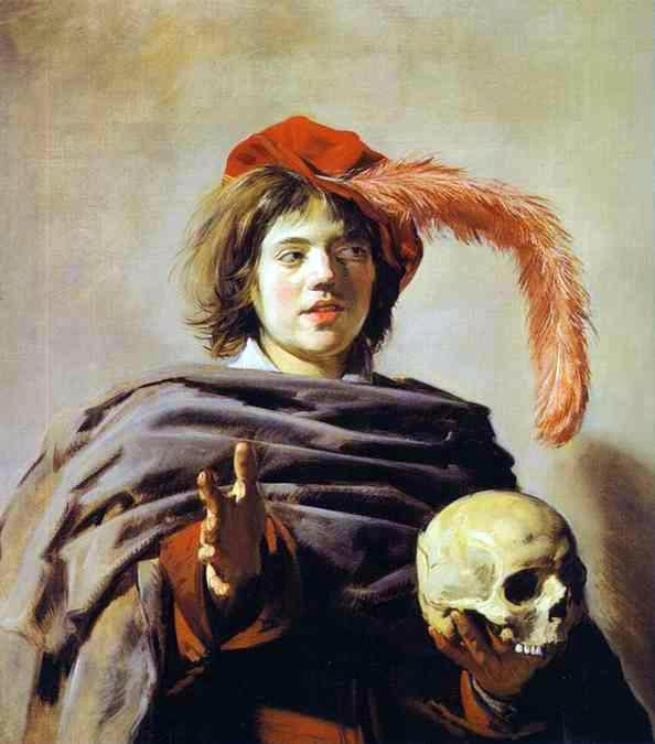 Young Man with a Skull (Vanitas) - Frans Hals
