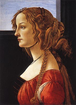 Young Woman - Sandro Botticelli