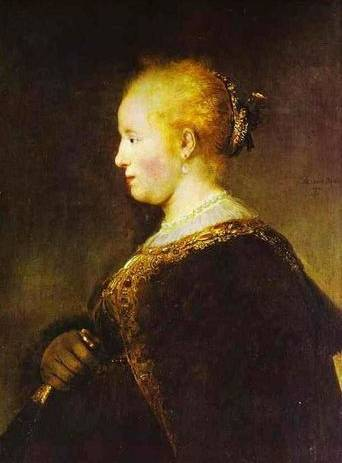Young Woman with the Fan - Rembrandt van Rijn