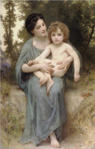 Younger Brother - William Adolphe Bouguereau